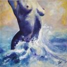 Nudité marine - Acrylique sur toile 50 x 50cm