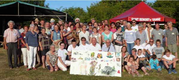 Artistes peintres exposant aux Arts au village de st Benoit sur Vanne