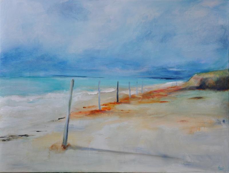Peinture plage sereine