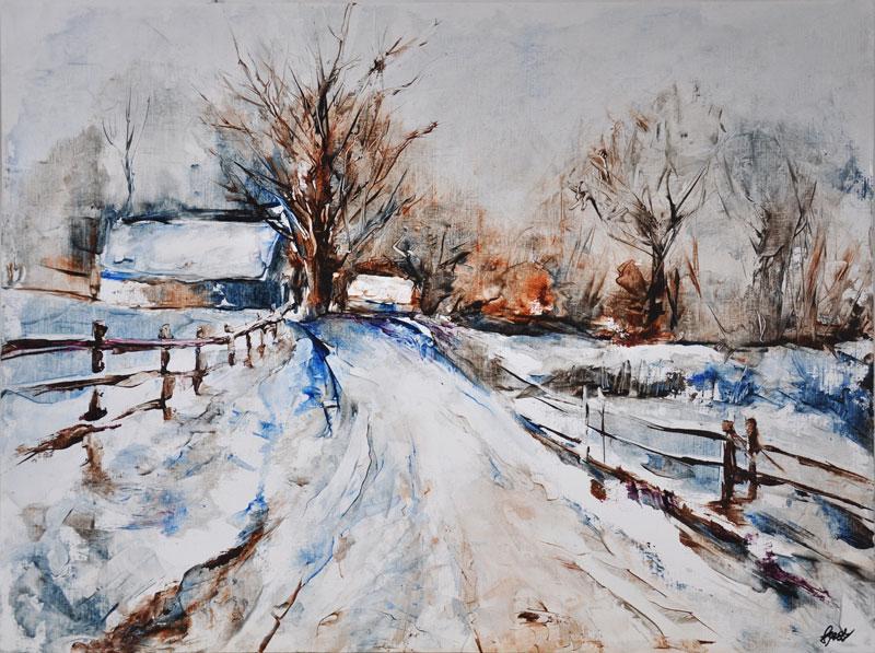 Chemin hivernal