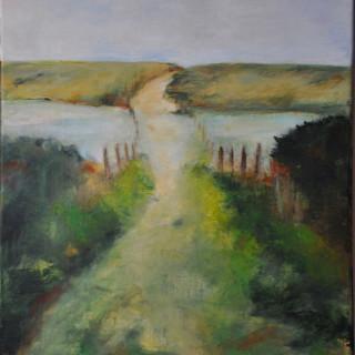 Chemin inondé - Acrylique sur toile 40 x 50 cm