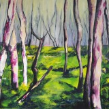 Bois dormant - Acrylique sur toile 81 x 60 cm